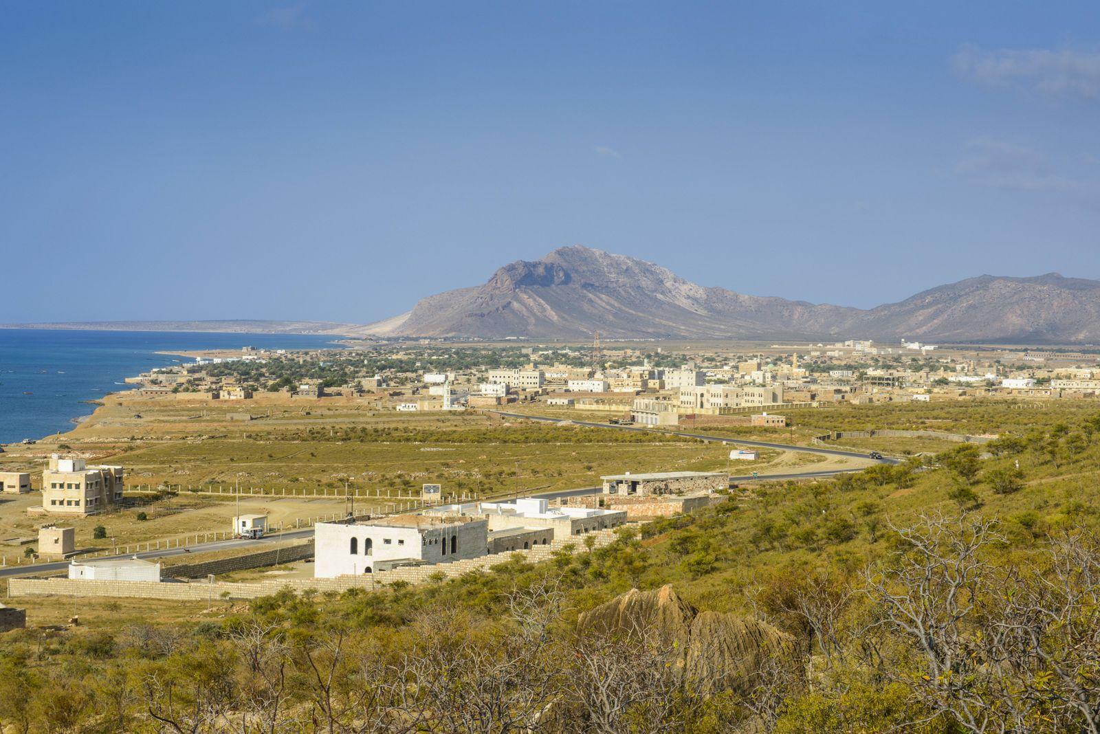 View of Hadibo capital of the island of Socotra UNESCO World Heritage Site Yemen Middle East PUB
