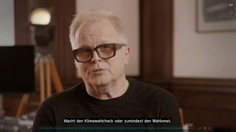 Grönemeyer in seinem Videoclip: »Oder wenigstens den Wahl-O-Mat«