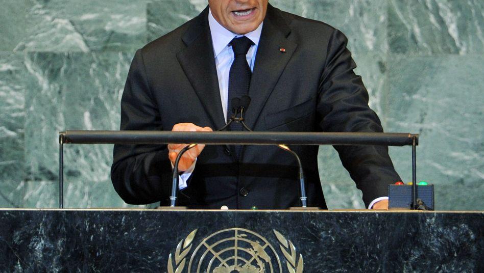 Frankreichs Präsident Sarkozy vor der Uno: Schnelle Friedensverhandlungen in Nahost