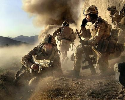 British soldiers battling the Taliban at the end of January.