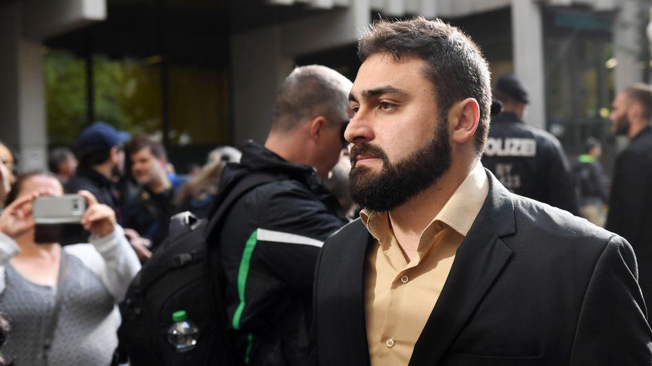 Abdulkerim Simsek am Tag der Urteilsverkündung in München im Juli 2018
