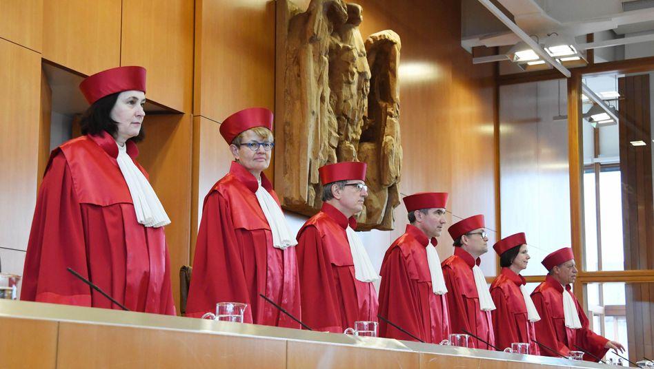 Der erste Senat des Bundesverfassungsgerichts in Karlsruhe