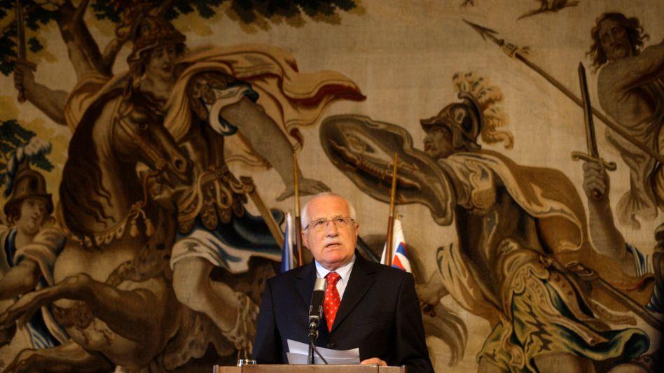 Der tschechische Präsident Václav Klaus: Gegen Neuregelung der Wahl