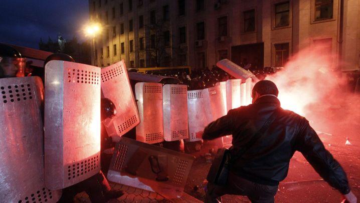 Ukraine: Proteste von Regierungsgegnern