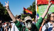 Reggae und Pegida-Flagge