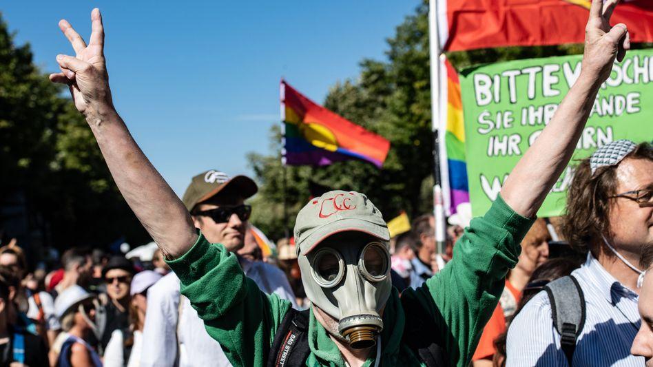 Demonstranten in Berlin: Neue Zielgruppen für Populisten