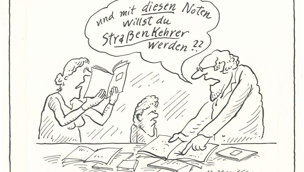 Karikaturistin Marie Marcks: Bäume zeichnen, Blumen klauen, Hitler malen