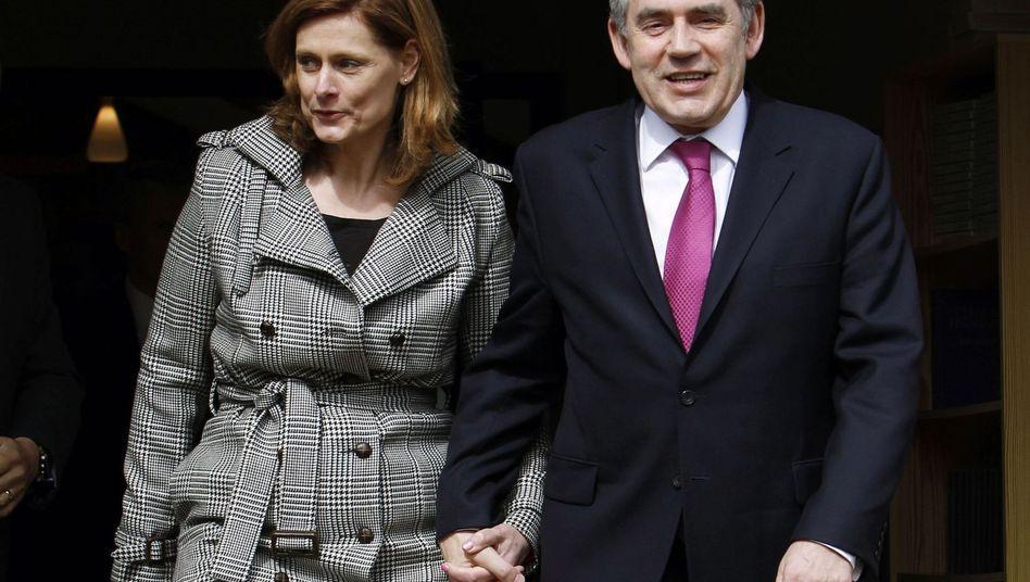 Gordon Brown, Ehefrau Sarah (Archivbild): Auf plötzlichen Auszug vorbereitet