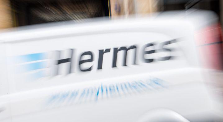 Hermes-Lieferwagen