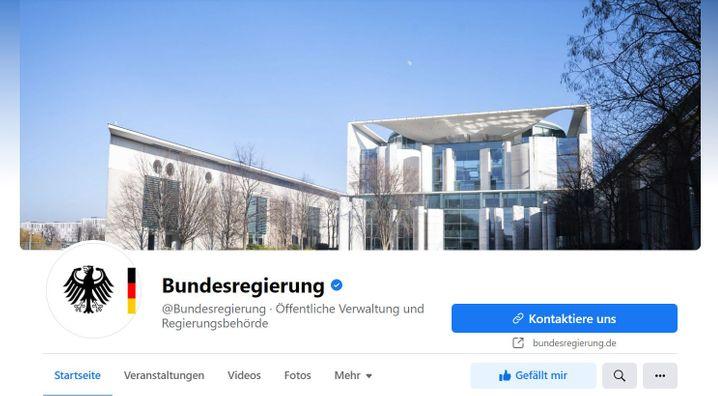 Noch online: Die Facebook-Fanpage der Bundesregierung