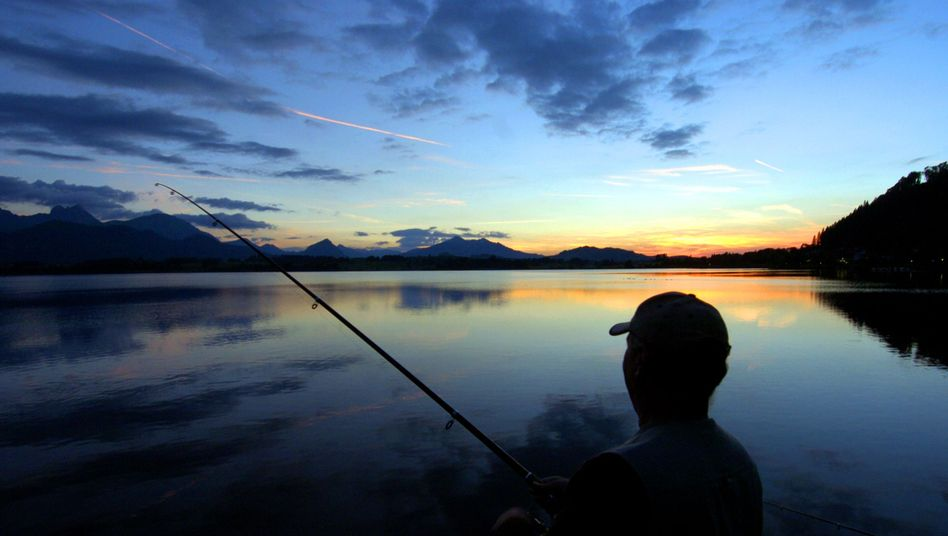 Angling can be a peaceful hobby.