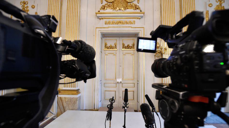 Journalisten erwarten die Verkündung des Nobelpreisträgers (Archivbild)