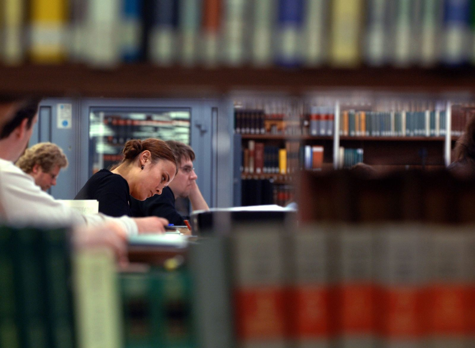 Studenten/ Bibliothek