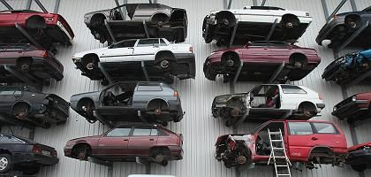 Germans have been turning in old cars to be scrapped at record rates this winter.