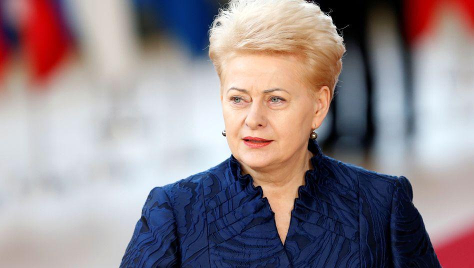 Litauens Präsidentin Dalia Grybauskaite