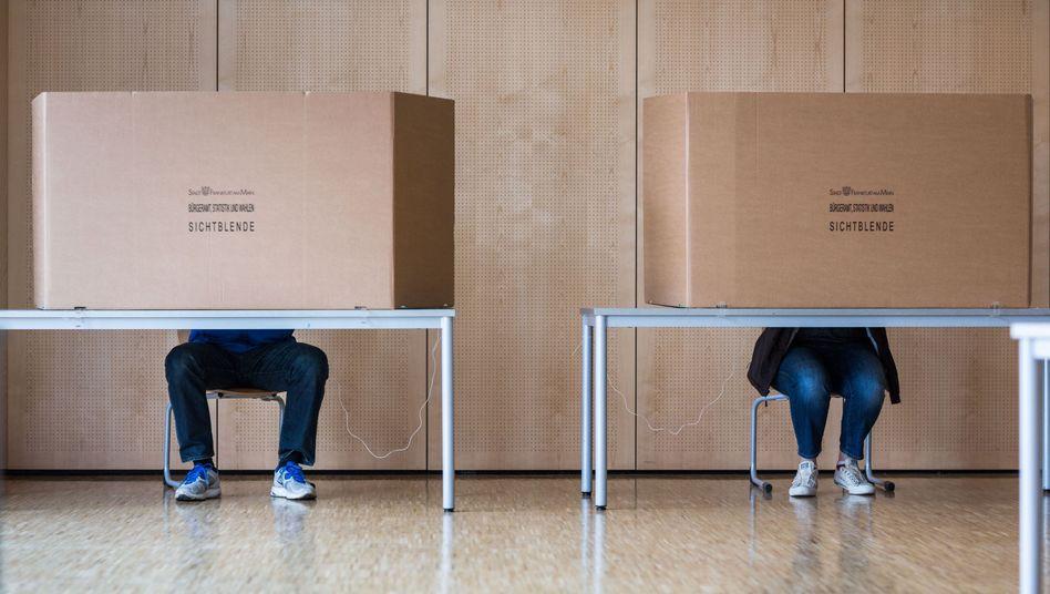 Wähler in Frankfurt