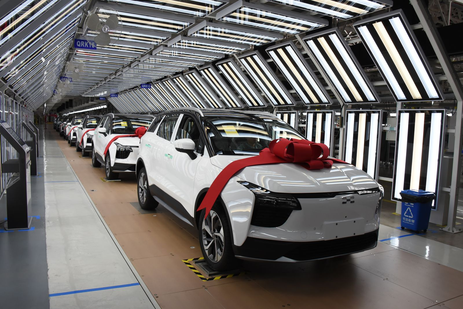 Aiways U5 Electric Vehicles Roll Off Assembly Line In Shangrao