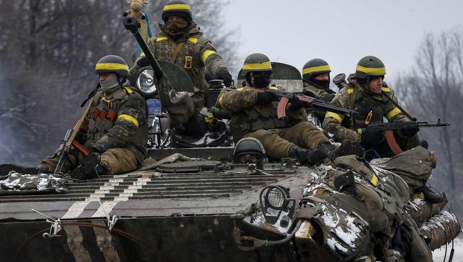 Ukrainische Soldaten (in Debalzewe): Öffnung für ausländische Kämpfer