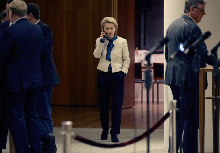 Defense Minister Ursula von der Leyen has fallen out of favor with Merkel.