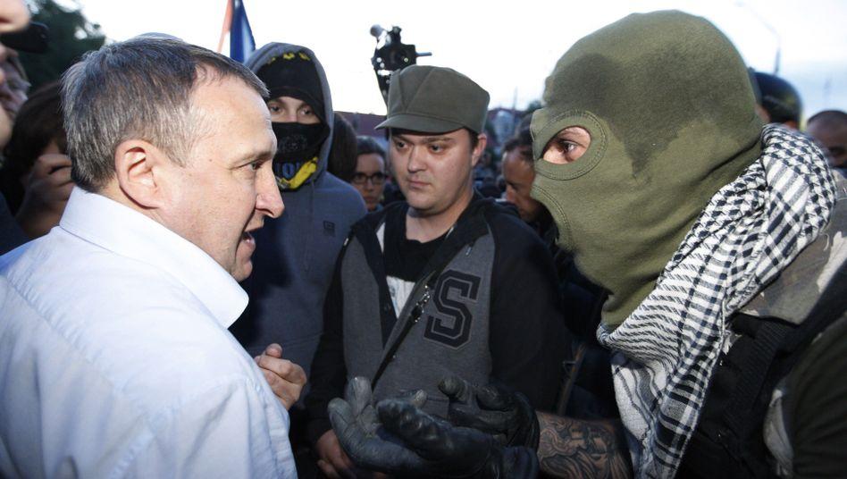 """Außenminister Deschtschytsja mit Demonstranten in Kiew: """"Ich unterstütze die Proteste"""""""
