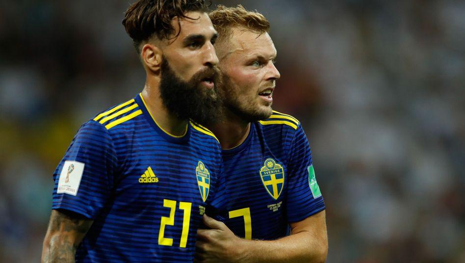 Jimmy Durmaz (l.) und Sebastian Larsson (r.)