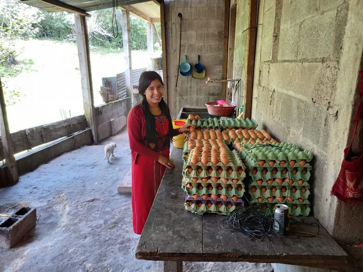 María Rebeca Pérez, 25, almost left Guatemala for the U.S. several years ago. Now, she runs a farm and has seven employees.