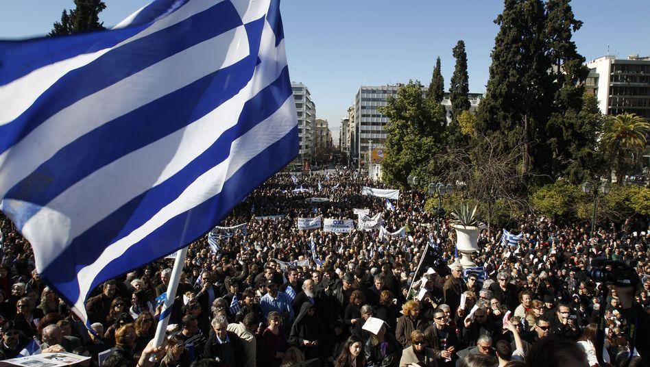Anti-Euro-Protest in Athen: Die griechische Regierung steht unter massivem Druck