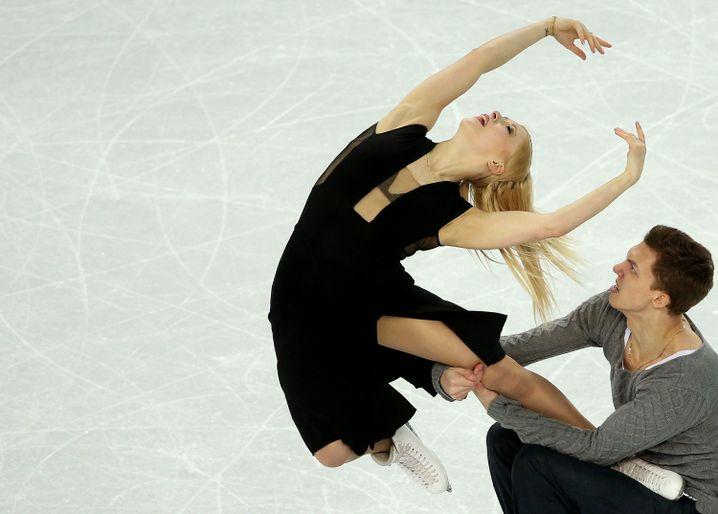 Jekaterina Bobrowa und ihr Partner Dimitrij Solowjow