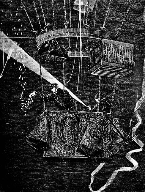 Flug durchs Dunkle: »La Ville d'Orleáns« nach ihrem Start am 24. November 1870