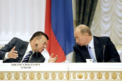 President Vladimir Putin, and his new Prime Minister Viktor Zubkov. With no power base of his own, Zubkov would likely play his preordained part in any Putin plan.