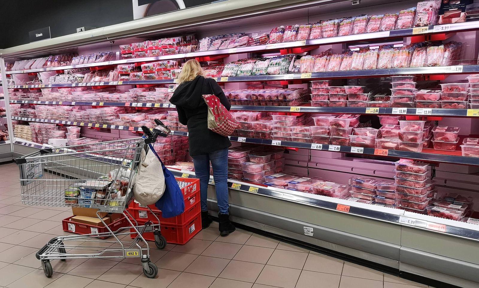 EINMALIGE VERWENDUNG Fleischwaren Discounter