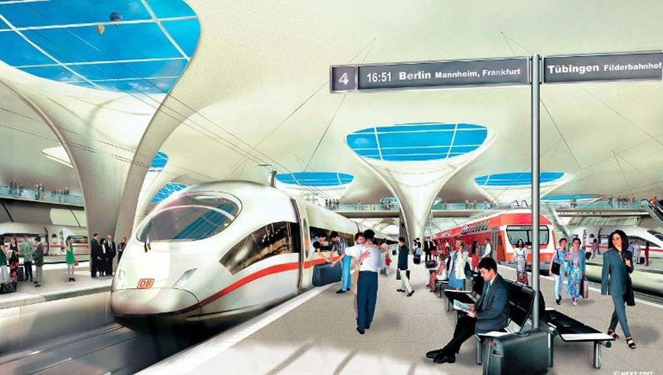 Computerbild des Bahnprojektes Stuttgart 21: Aus Sicht von Bahn und Bund keine Zweifel