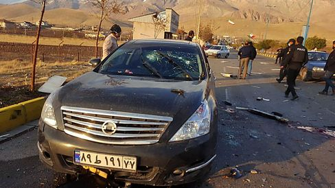 Anschlagsort in Iran
