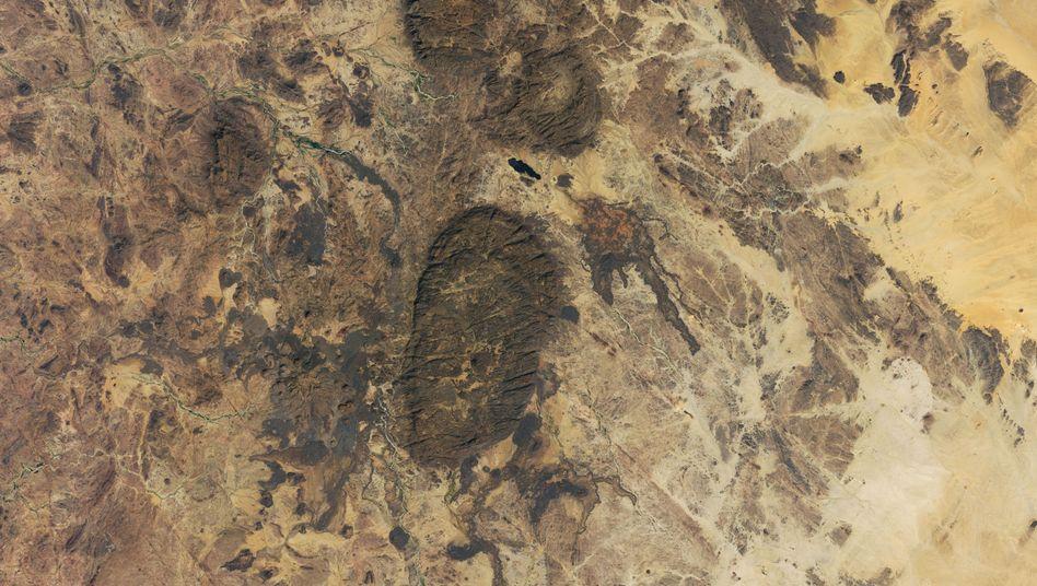 Satellitenbild des Aïr Gebirges