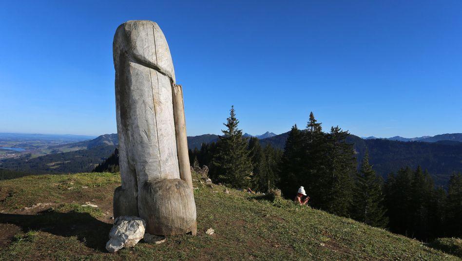 Grünten: Der wohl berühmteste Holzpenis war vielleicht Vorbild für den Holzpenis von Heimenkirch (Archivbild)