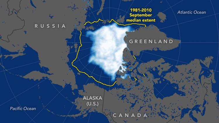 Am 18. September hatte die arktische Meereisbedeckung ihren Minimalwert für dieses Jahr erreicht
