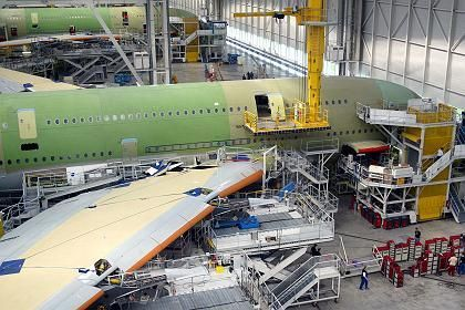 Assembly of the A380 super jumbo in Toulouse, France: Painful cuts will be spread between France and Germany.