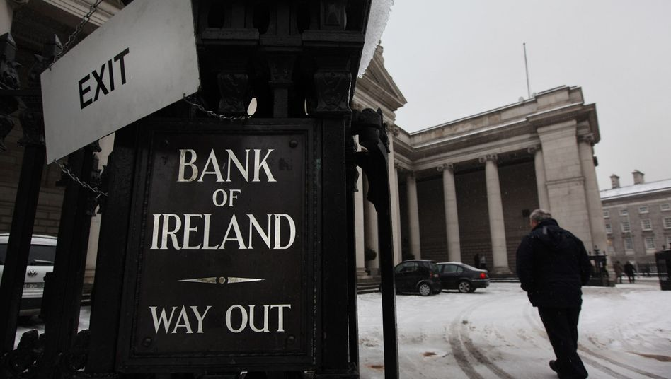 One of Ireland's struggling banks: The banking sector is Ireland's Achilles' heel.
