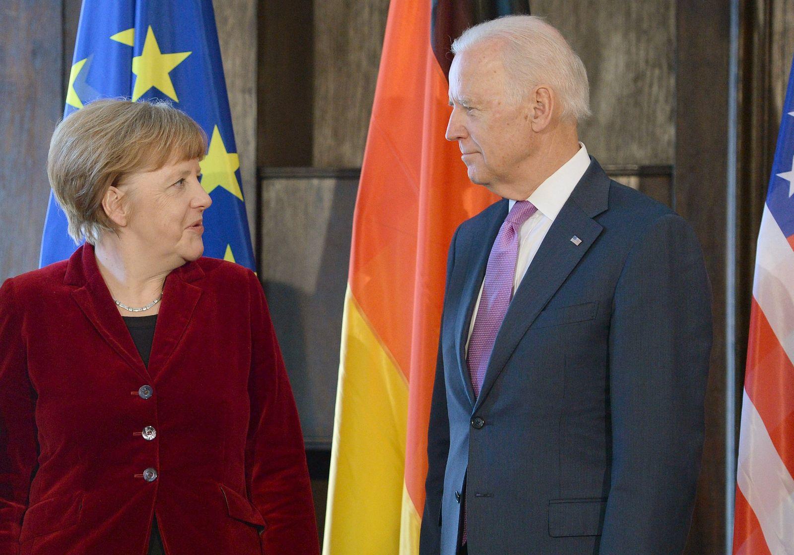 Angela Merkel und Joe Biden