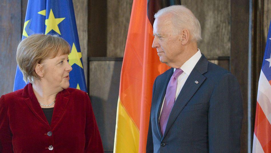 Alte Bekannte: Kanzlerin Merkel und der damalige US-Vizepräsident Biden bei der Münchner Sicherheitskonferenz 2015