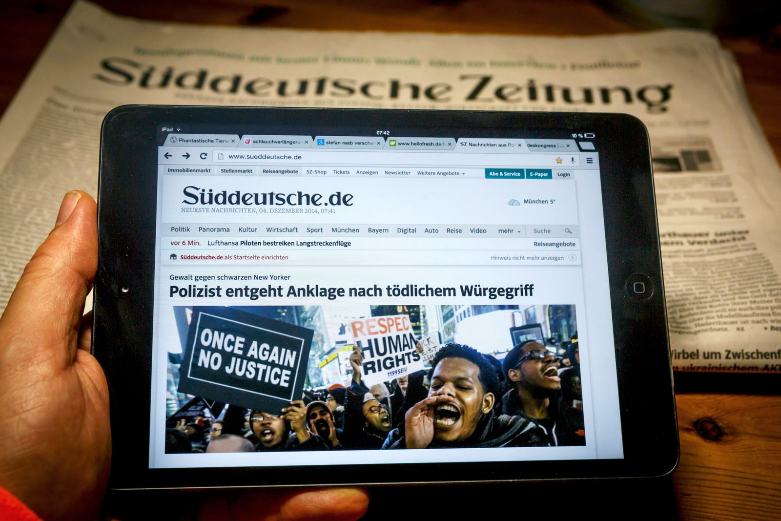 EINMALIGE VERWENDUNG Süddeutsche