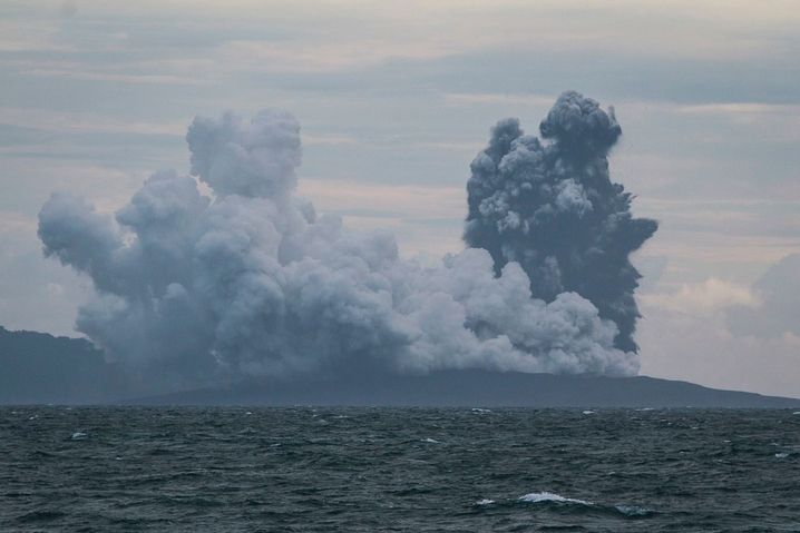 Der Anak Krakatau am 28. Dezember 2018