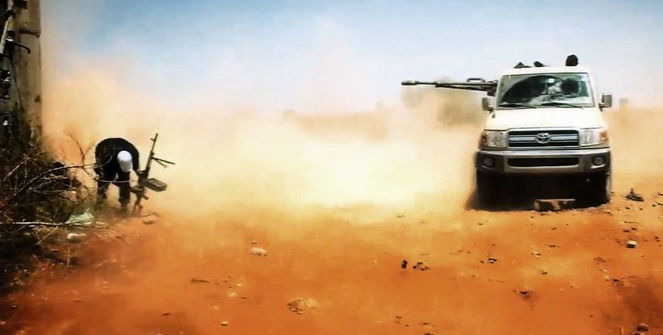 Islamisten beim Kampf um Bengasi