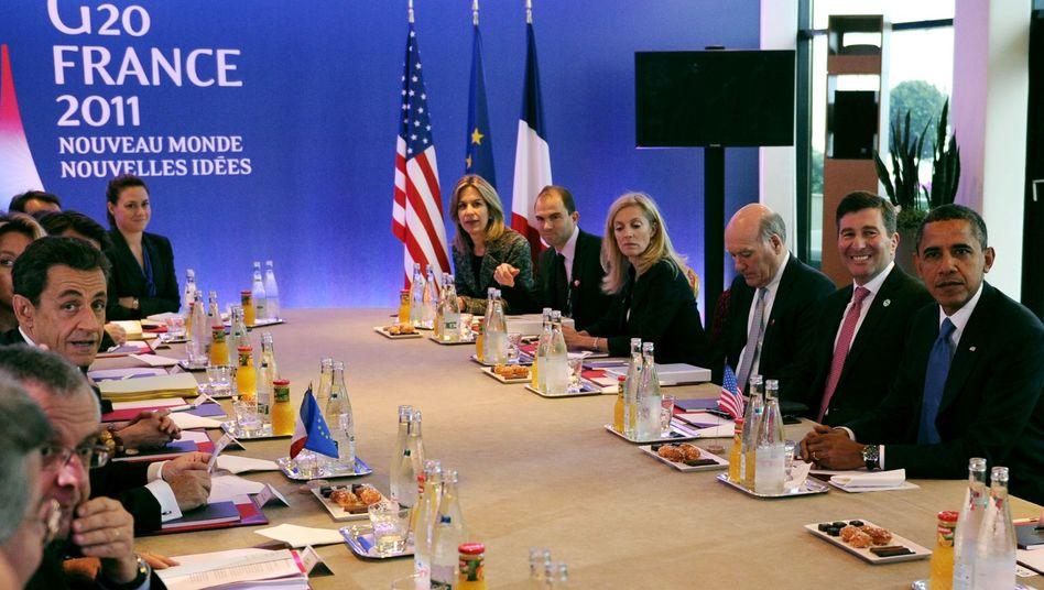 G20 in Cannes: Die Fülle an Problemen lähmt die Regierungschefs