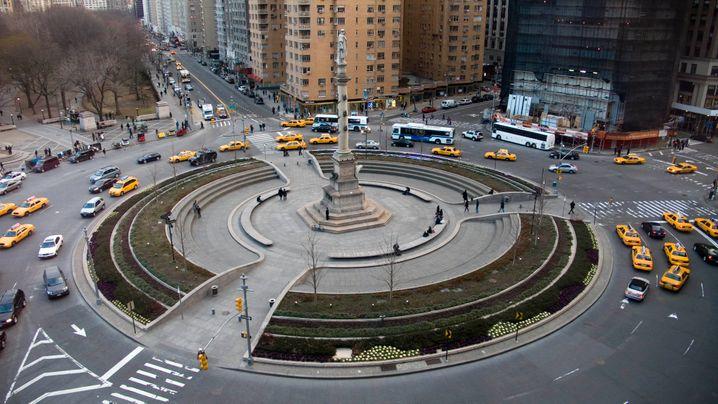 Politisch unkorrekt geworden: Columbus Circle mit Statue