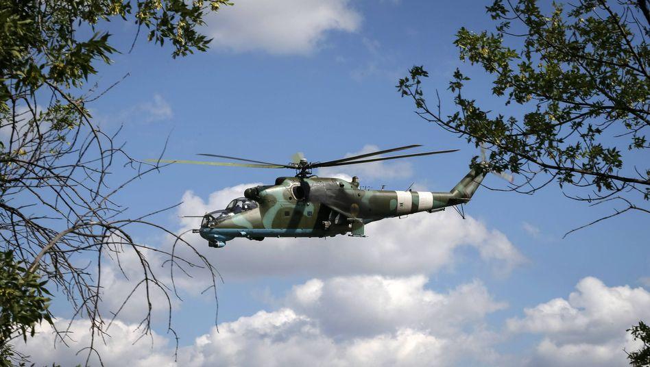 Ukrainischer Mi-24-Hubschrauber (Archiv): Illegal ins Ausland transferiert