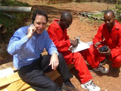 Greg Wyler at the office in Rwanda.