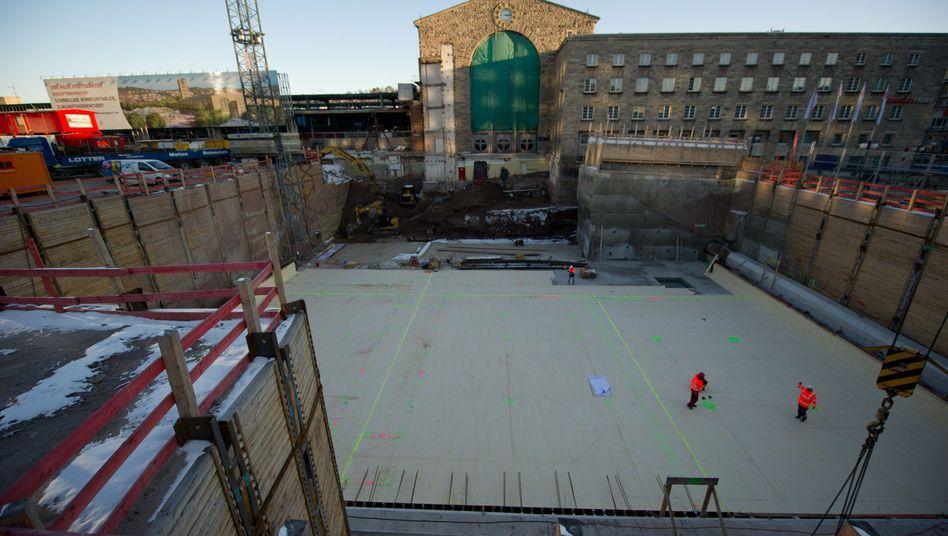 Nordeingang des Hauptbahnhofs Stuttgart: Deutschlands teuerste Baugrube
