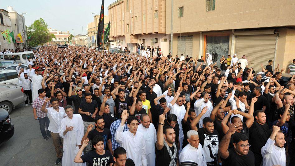 Demonstration von Schiiten in Saudi-Arabien: Alis Vater droht mit weiteren Protesten