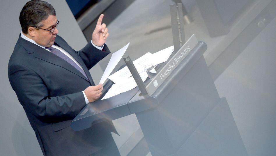 Gabriel am Donnerstag im Bundestag: Im Hagel der Zwischenrufe